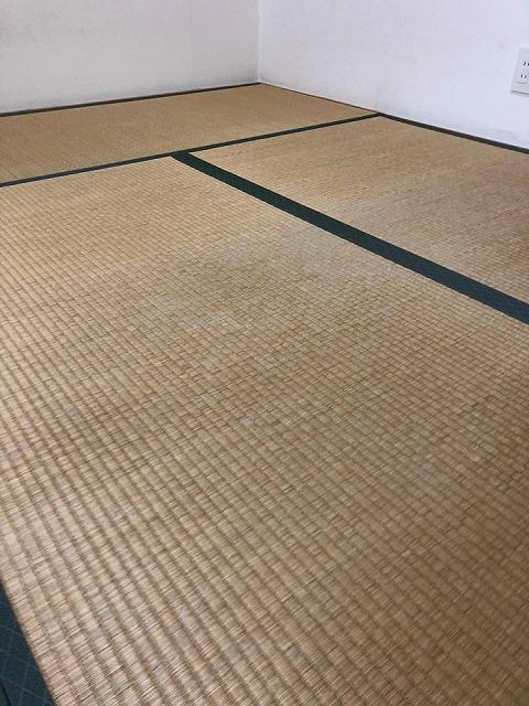 〜和紙カラー畳×同系色縁×デザイン敷きで極薄畳のお部屋を模様替え〜大阪大東市イマドキの畳屋さんうえむら畳2