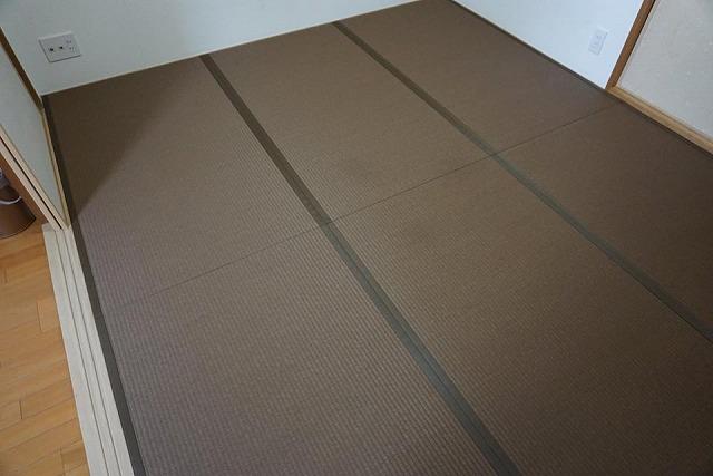 〜和紙カラー畳×同系色縁×デザイン敷きで極薄畳のお部屋を模様替え〜大阪大東市イマドキの畳屋さんうえむら畳3