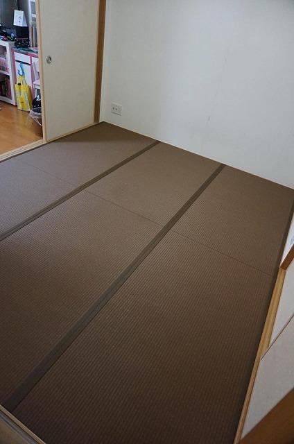 〜和紙カラー畳×同系色縁×デザイン敷きで極薄畳のお部屋を模様替え〜大阪大東市イマドキの畳屋さんうえむら畳5