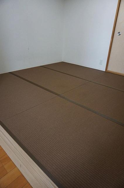 〜和紙カラー畳×同系色縁×デザイン敷きで極薄畳のお部屋を模様替え〜大阪大東市イマドキの畳屋さんうえむら畳7