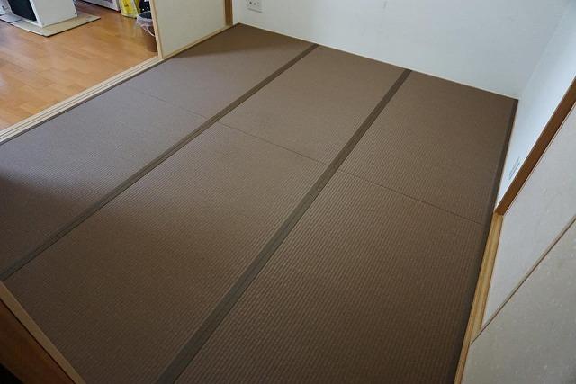 〜和紙カラー畳×同系色縁×デザイン敷きで極薄畳のお部屋を模様替え〜大阪大東市イマドキの畳屋さんうえむら畳8