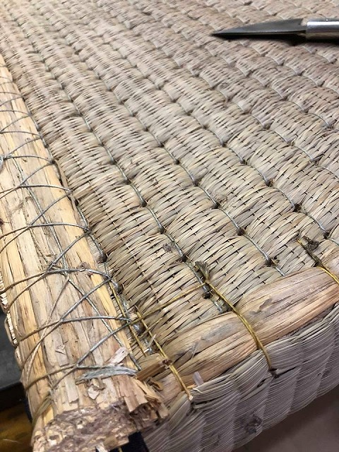 高級板入れ天然稲わら畳(棕櫚裏・丹波裏)板締め&表替えのご依頼。家庭用国産畳専門店うえむら畳15