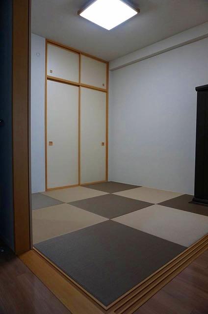 【ペット用カラー琉球畳】耐水素材畳でペットの粗相や汚れををカイゼン。大阪府大東市イマドキの畳屋さんうえむら畳1