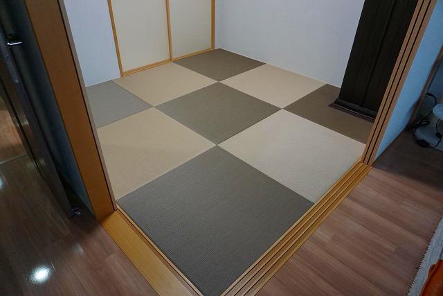 【ペット用カラー琉球畳】耐水素材畳でペットの粗相や汚れををカイゼン。大阪府大東市イマドキの畳屋さんうえむら畳2