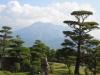 磯庭園から望む桜島