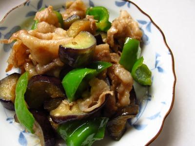 豚肉と茄子ピーマンの味噌炒め