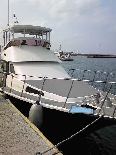 乗った船。
