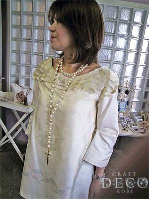 ドクロモチーフのドレス