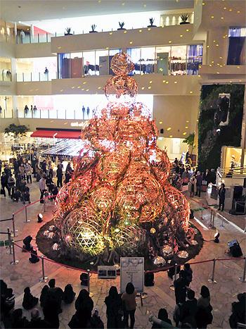 ミラーボールクリスマスツリー