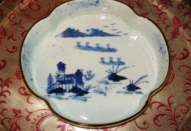 福泉窯 染付山水菜鉢