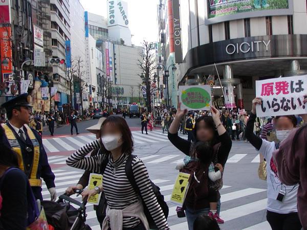 東京渋谷の交差点