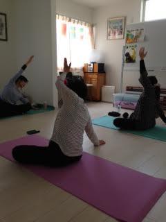 yogaクラス受講風景