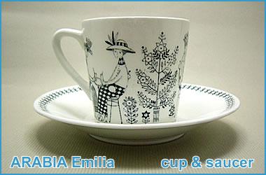 ARABIA Emilia cup&saucer