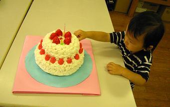 2歳ケーキ