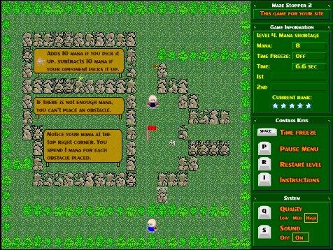 【パズル】邪魔をしつつ敵より早くゴールを目指せ「Maze Stopper 2」