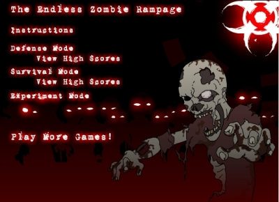 「Endless Zombie Rampage」エンドレスかつ多量に攻めてくるゾンビから陣地を守る防衛ゲーム