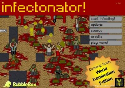 「Infectonator!」ゾンビ化ウィルスを感染させ人間をゾンビに