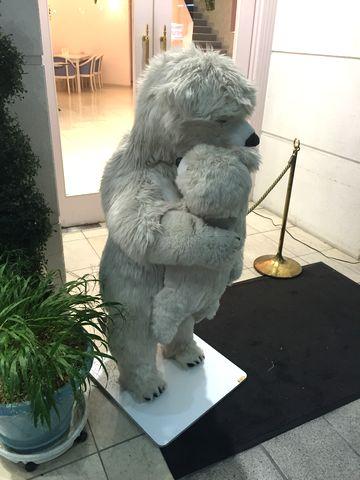 白熊親子の癒し画像