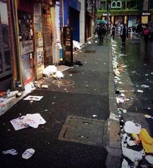 渋谷のゴミ