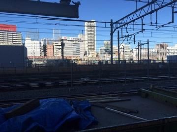 品川駅現場