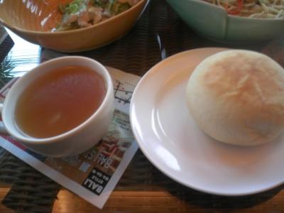わさび・スープとパン