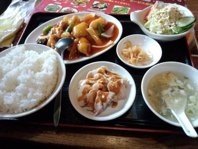 福林飯店 酢豚とバンバンジー