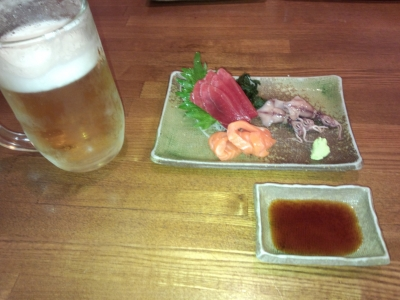 めし刺身 ビール