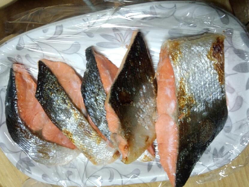 ウオトクの鮭 焼き上がり