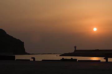 久部良港サンセット