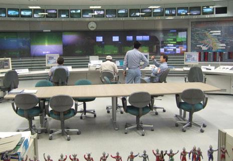 この管制室はウルトラマンの撮影で使われた施設だそうですよ
