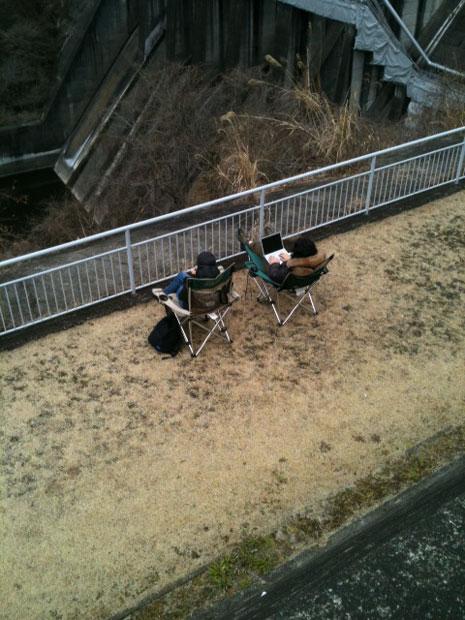 城山ダムを監視している人