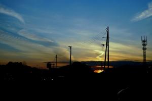 土佐市の夕焼け