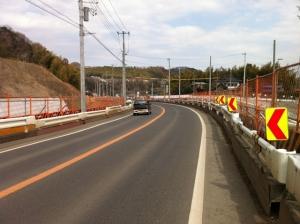 県道510号現道、東側を眺める