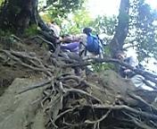 登る途中の道