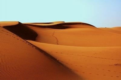 Desert footprint1007157 640