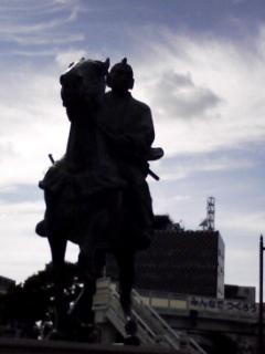 和歌山県立博物館前にあった吉宗公の銅像