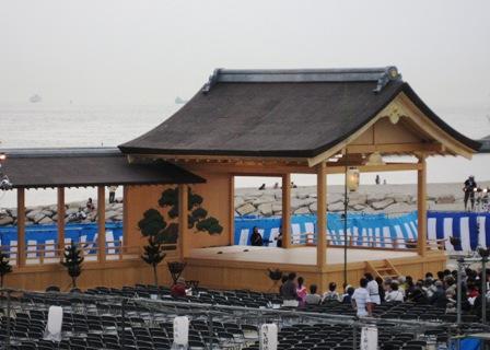 大蔵海岸の能舞台