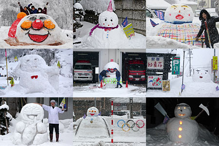 昨年の雪だるま達