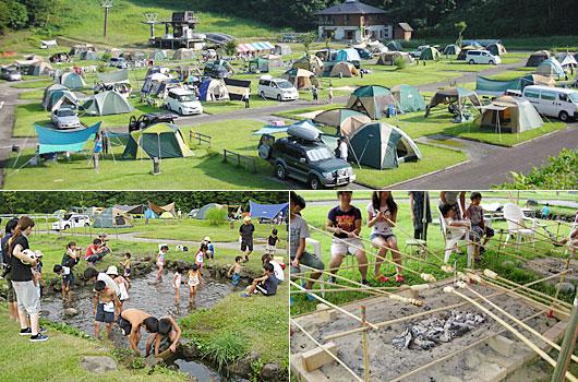 月山あさひサンチュアパーク オートキャンプ場 夏やすみ自然教室