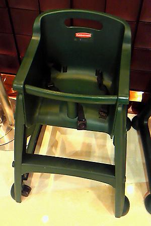 ラバーメイドの子供椅子