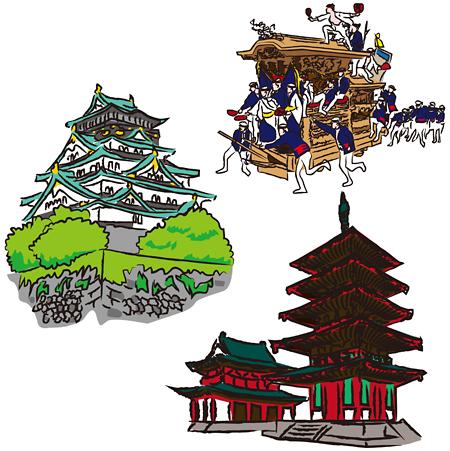 大阪城 四天王寺 だんじり