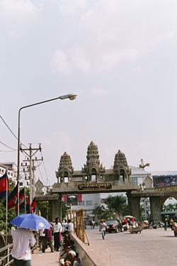 カンボジアの国境!!