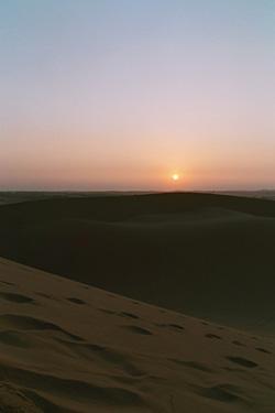 White duneの朝焼け