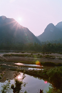 バンガローからの景色。