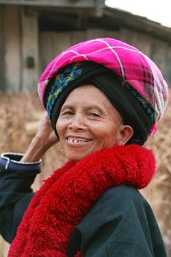 とても素敵な笑顔のおばあちゃん。