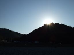 日が落ちます。