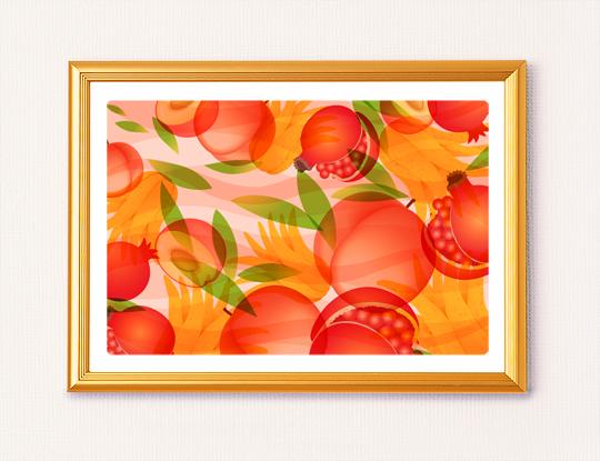 仏手柑の風水画イメージ1