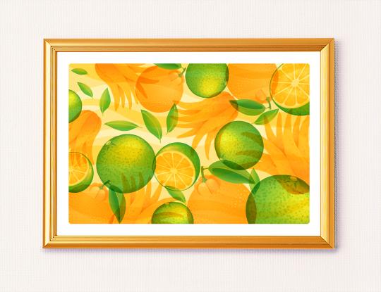 仏手柑の風水画イメージ2