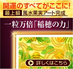 最上級 風水果実アート 稲穂&ひょうたんサイド