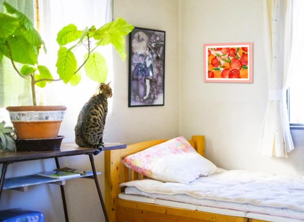 ウンベラータと風水果実アートアムールを飾ったお部屋イメージ